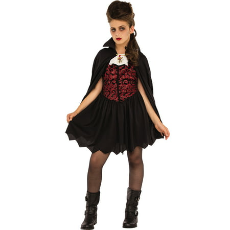 Miss Vampire Girls Gothic Victorian Dracula Halloween Costume](Kids Vampire Costumes For Girls)