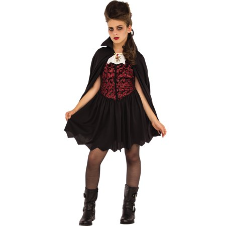 Miss Vampire Girls Gothic Victorian Dracula Halloween Costume - Makeup Ideas For Halloween Vampire