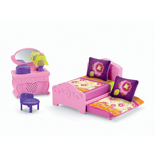 Fisher-Price Dora the Explorer Playtime Together Deluxe Bedroom Dollhouse Furniture