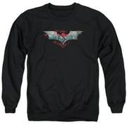 Dark Knight Rises Split & Crack Logo Mens Crewneck Sweatshirt