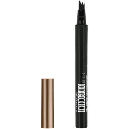 Maybelline TattooStudio Brow Tint Pen Makeup, Soft Brown, 0.037 fl.