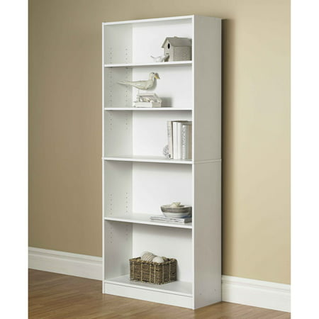 This button opens a dialog that displays additional images for this product  with the option to zoom in or out. - Orion Wide 5-Shelf Bookcase, Multiple Finishes - Walmart.com