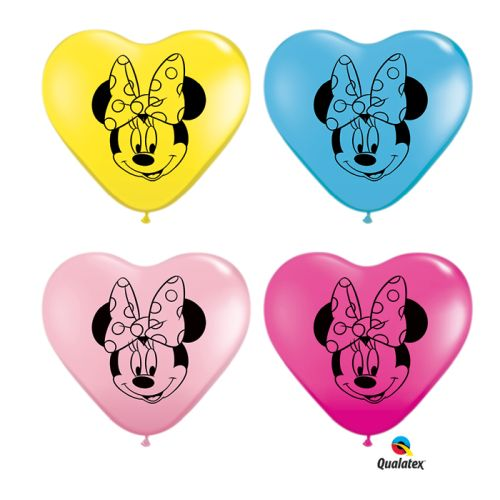 "Burton & Burton 6"" Minnie Mouse Face Asst Balloons 100 Pack by Burton & Burton"
