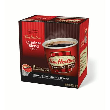 Tim Hortons Original Ground Coffee Single Serve Cups, Medium Roast, 18 (Best Single Serve Coffee)