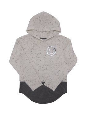 Girls Graphic Fleece Hangdown Hoodie