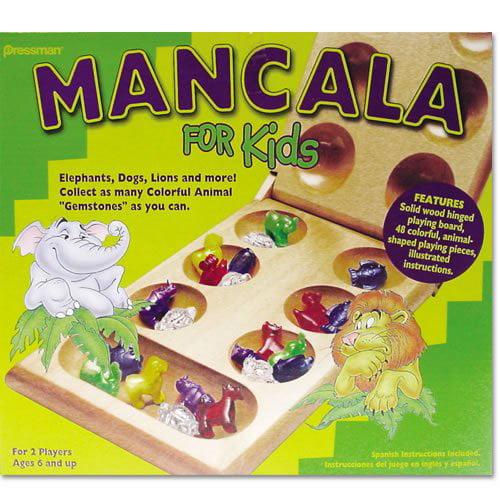Mancala for Kids, Chess Night perfect Plays Premium Sleeve Artisan Mancala Made Board Hello Craftsman Real... by