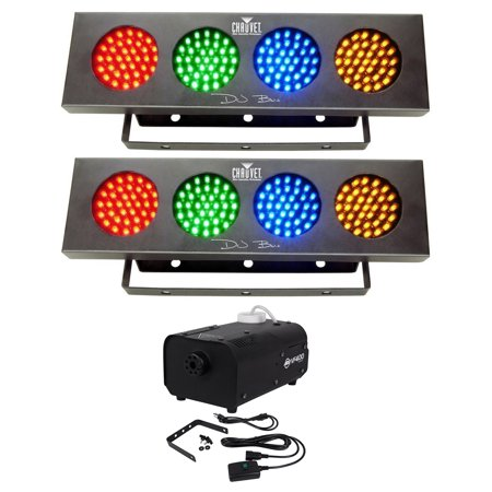 2) Chauvet DJ BANK Party Lights w/Automated Sound Activated Programs+Fog Machine Chauvet Dj Bank