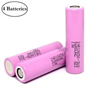 Samsung INR 18650 30Q 3000mAh 15A Rechargeable High Drain Flat Top Battery (4 Pack)