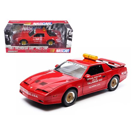 1987 Pontiac Firebird Trans Am GTA Talladega 500 Pace Car Nascar 1/18 Diecast Model Car by Greenlight - Nascar Halloween Cars