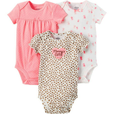 Newborn Baby Girl 3 Pack Bodysuit