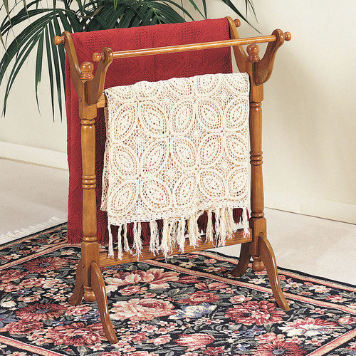 Powell Furniture Nostalgic Oak Quilt Rack