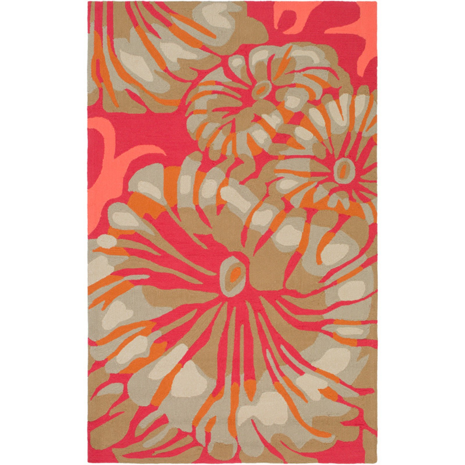 Surya Rain RAI126 Floral Indoor / Outdoor Area Rug
