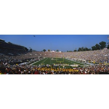 High angle view of a football stadium full of spectators The Rose Bowl Pasadena City of Los Angeles California USA Canvas Art - Panoramic Images (18 x 7)