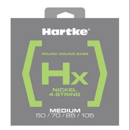 Hartke HSBHX450 Hx Nickel Bass Guitar Strings, Medium,