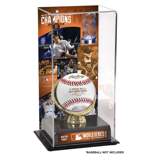 """Buster Posey San Francisco Giants Fanatics Authentic 2014 World Series Champions 10"""" x 5.5"""" Gold Glove Baseball Display Case - No Size"""