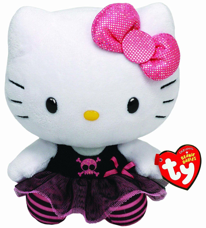 """Cp TY Beanie Boos Punk Hello Kitty Small 6"""" Plush by"""