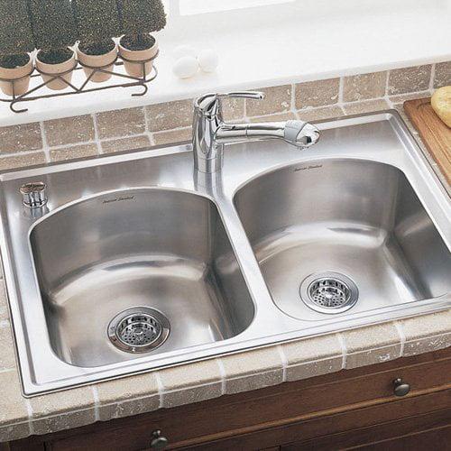 American Standard Culinaire 7502403 Double Basin Drop In Kitchen Sink