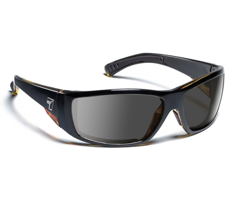 Image of 7 Eye Air Dam Sunglasses Maestro, Sharp View Gray Polarized PC Lens, Black Torto