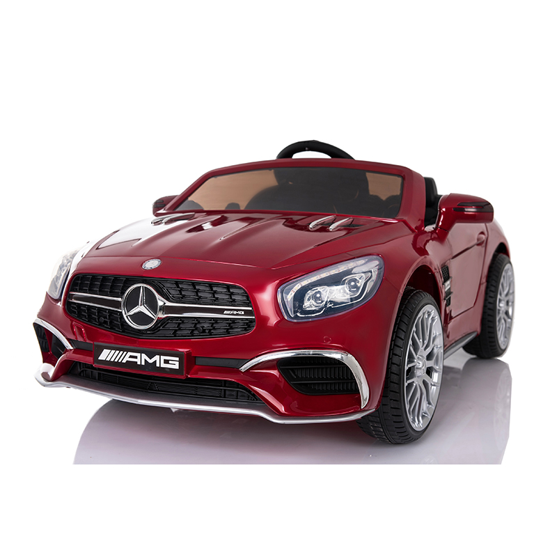 New 12V Mercedes AMG SL65 Ride on Electric Car For Kids Power wheels with Remote Control Opening doors MP3 LED lights MP4 Screen - Red