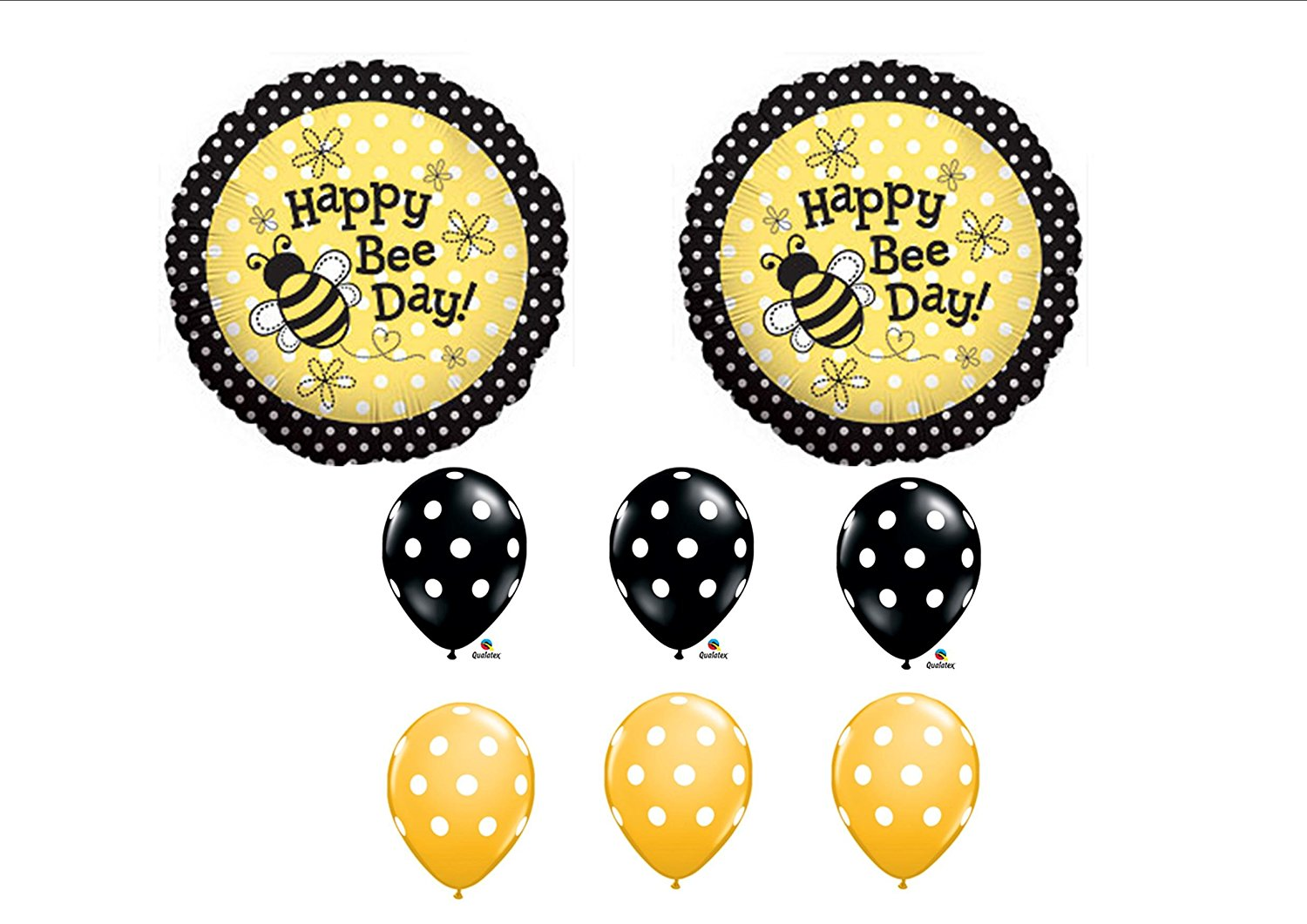 1 X Happy Bee-Day Birthday Buzz Bumble Bee Bouquet Balloon Set Party ...