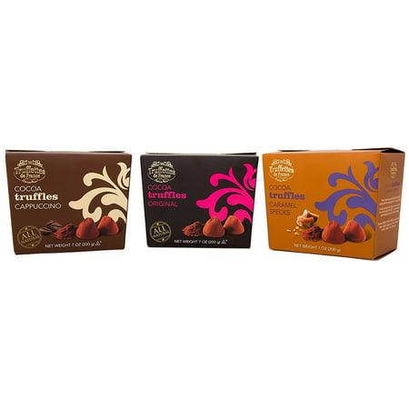 CHOCMOD All-Natural Gourmet Truffles (Variety Pack, Caramel, Cappucino, Chocolate) - Gourmet Halloween Caramel Apples