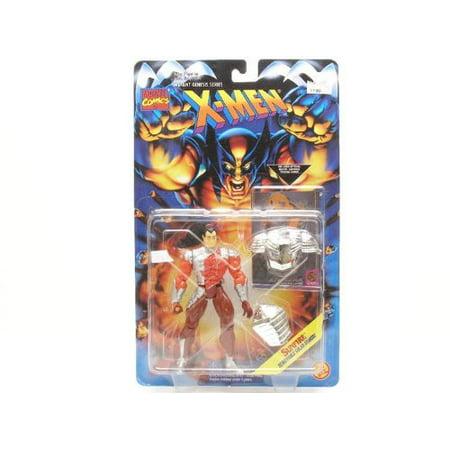 SUNFIRE * Removable Solar Armor * 1995 Marvel Comics X-Men Mutant Genesis Series Action Figure & Marvel Universe Trading Card, Removable Solar Armor + Official.., By X Men