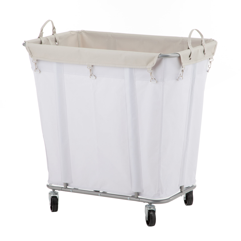 Mainstays Large Rolling Laundry Cart Walmart Com Walmart Com