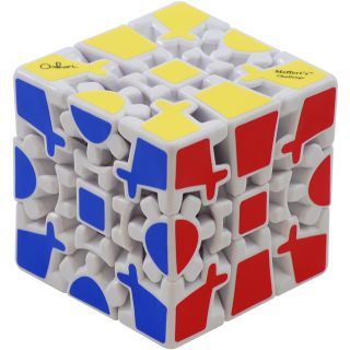 Gear Cube Extreme White Meffert's Rotation Brain Teaser Puzzle by Mefferts