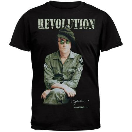 Back Revolution - John Lennon - Revolution Black T-Shirt