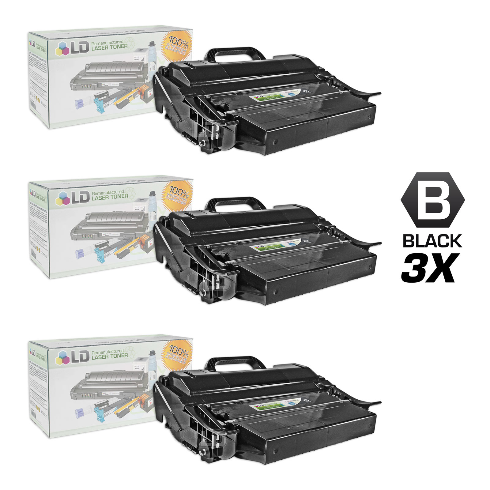 LD Compatible Dell 330-9792 (PK6Y4) Extra High Yield Black Toner Cartridges for Dell 5530dn/5535dn Printers