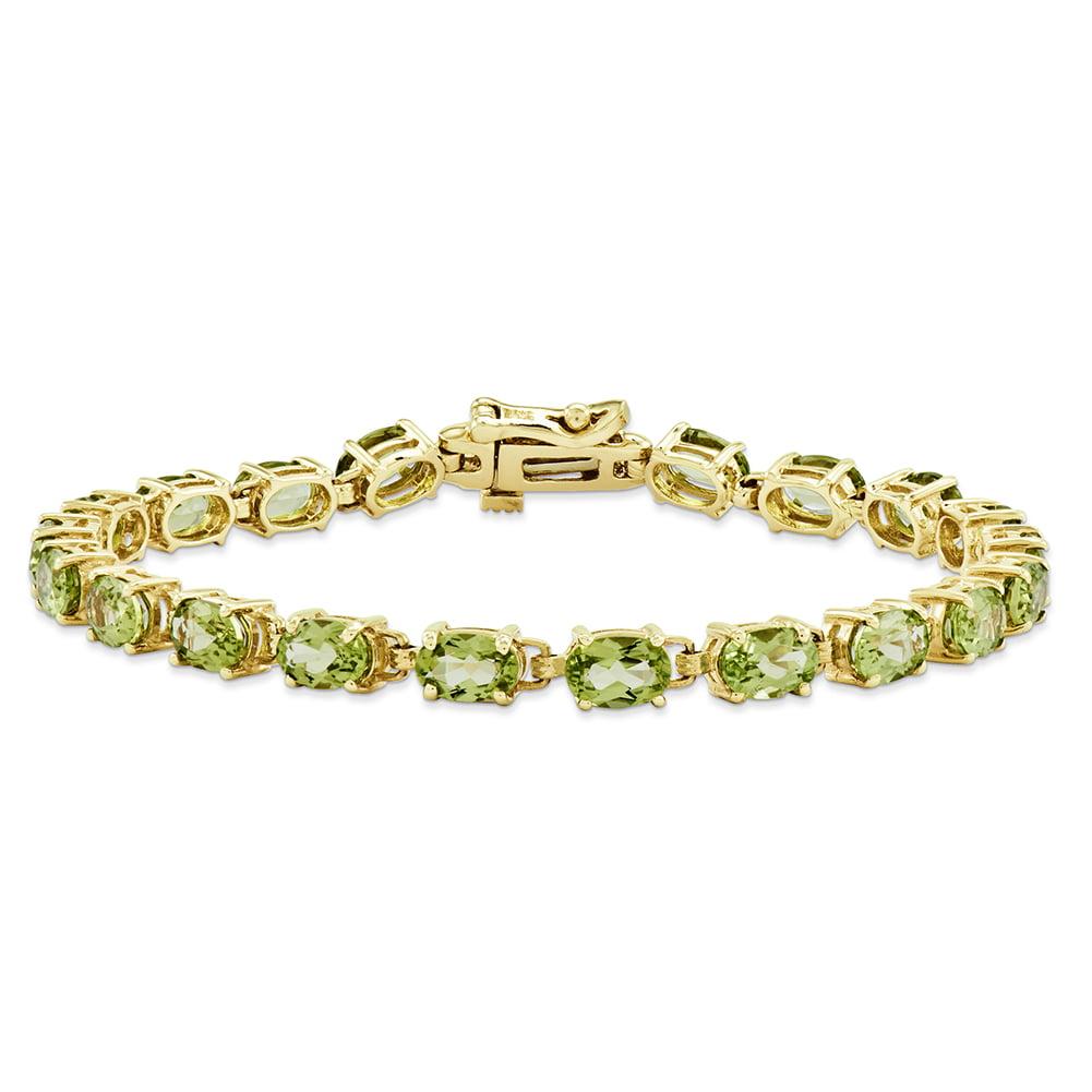 14k Yellow Gold 6x4mm Oval Peridot bracelet X960PE by
