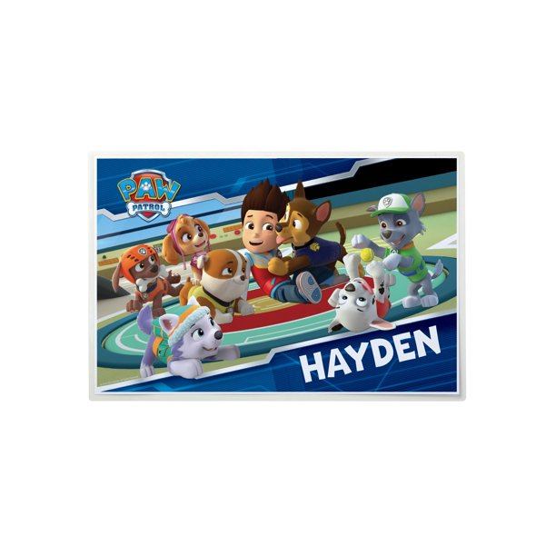 Personalized PAW Patrol Placemat