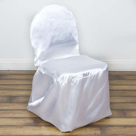 Shinny Satin Wedding Event Banquet Chair Covers, White
