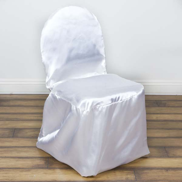 Efavormart 50PCS Shinny Satin Banquet Chair Covers Dinning Event Slipcover  For Hotel Dining Wedding Party Events Catering