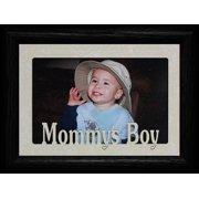 Mommy's Boy Landscape Picture Frame ~ Holds A 4X6 Or Cropped 5X7 Photo ~ Wonderful Gift For Mom From Her Little Boy! (Black)