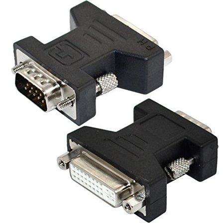 DVI-I 24+5 pin Female to SVGA VGA male 15 pin Video Card Converter Adapter