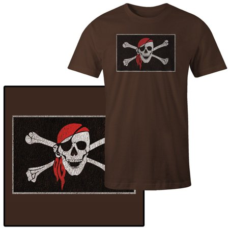 Men's Pirate Skull and Crossbones with Red Bandana - Skull Crossbones Bandana