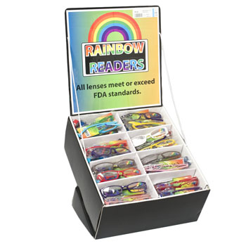 READERS RAINBOW COLORED IN 144PC COUNTER DISPLAY, Case Pack of 144