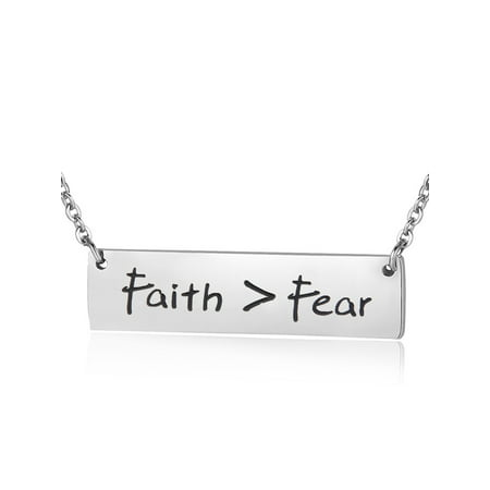Let Your Faith Be Bigger Than Your Fear Necklace Inspirational Jewelry Christian Gift for Her