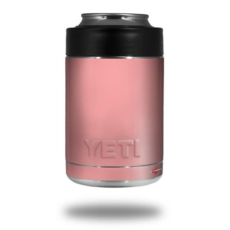 Skin Decal Wrap for Yeti Colster, Ozark Trail and RTIC Can Coolers - Solids Collection Pink (COOLER NOT INCLUDED) by WraptorSkinz (Yeti Rambler Can Cooler)