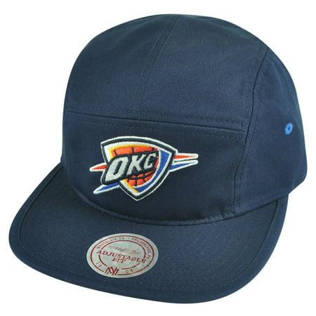 NBA Mitchell Ness OKC Oklahoma City Thunder Y356Z Solid Team Camper Navy Hat Cap
