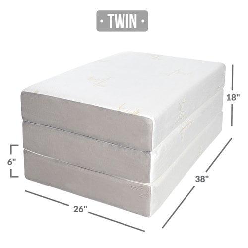 Milliard Memory Foam Tri Fold Mattress