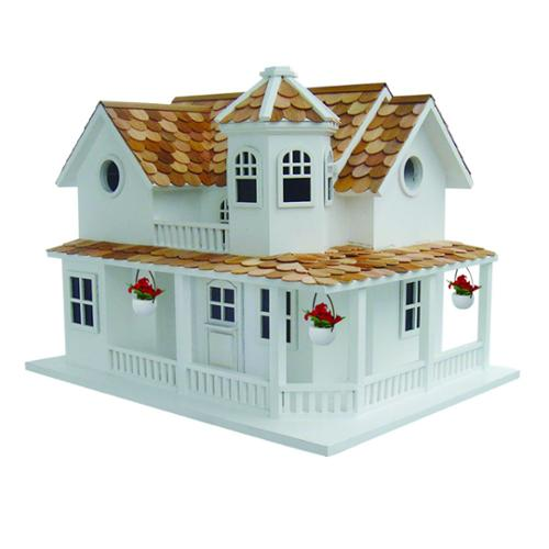 """12"""" Fully Functional Country Hamlet 2 Story Inspired Birdhouse"""