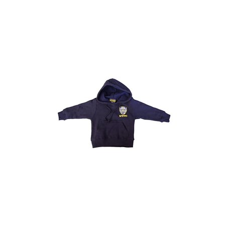 - NYPD Kids Hoodie Embroidered Sweatshirt Navy (Large(14-16))