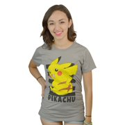 Pokemon Pikachu's Back Grey T-shirt
