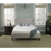 Premier Monticello Queen Upholstered Platform Bed, Taupe