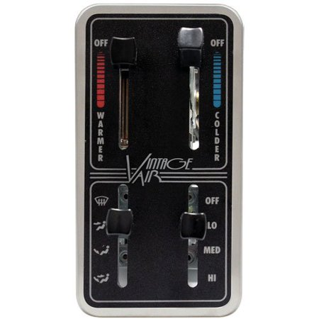 Vintage Air 49110-SVQ Gen II Base Model A/C Control Panel 4-Lever Controls LED B