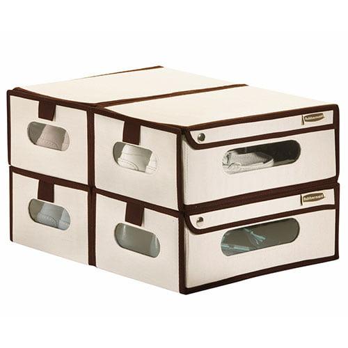 rubbermaid canvas shoe box walmart