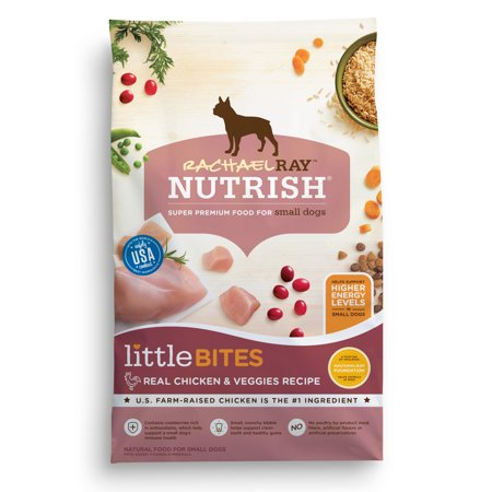 Rachael Ray Nutrish Little Bites Small Breed Natural Dry Dog Food, Real Chicken & Veggies Recipe, 6 - Bites Dry Food