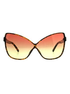 86fa4dfdf97 Product Image Womens Oversize Cat Eye Butterfly Thin Plastic Gradient Lens  Sunglasses Tortoise Orange Yellow